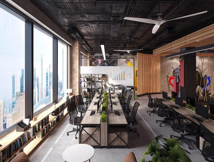 Bố trí vị trí nội thất, trang thiết bị văn phòng, thiết kế của từng phòng ban, không gian chung, phòng hội họp tại văn phòng mới cũng là một trong những bước quan trọng trong quá trình lập kế hoạch di chuyển văn phòng. Đó cũng là thời điểm tốt nhất để bạn cải thiện, khắc phục các vấn đề về lỗi bố trí ở nơi cũ nhằm tạo ra một điều kiện làm việc tốt hơn so với văn phòng cũ.