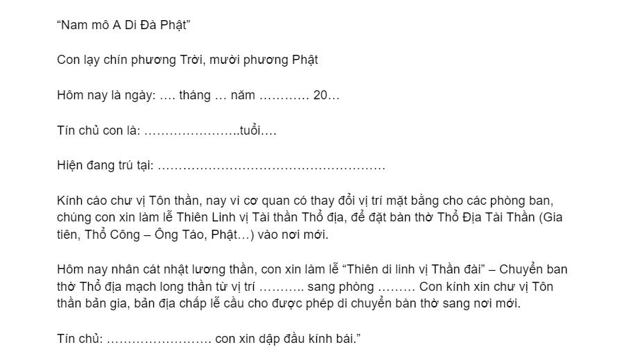 bai van khan tham khao khi di doi ban tho than tai ong dia