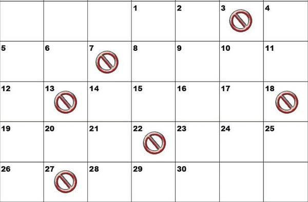 Bạn nên tránh việc chọn trúng những ngày xấu, ảnh hưởng không tốt tới việc kinh doanh. Những ngày bạn cần tránh: Nguyệt Kỵ (mùng 5, 14, 23), Tam Nương (mùng 3, 7, 13, 18, 22, 27) và Dương công kỵ Nhật (24/1, 17/2, 16/3, 13/4).