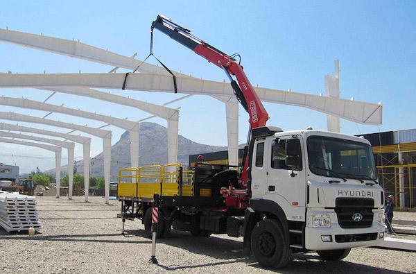 Xe cẩu hàng phục vụ các công trình xây dựng chuyên nghiệp